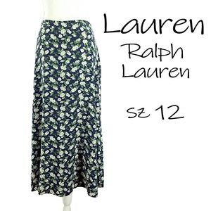 Sz 12 Lauren Floral Skirt